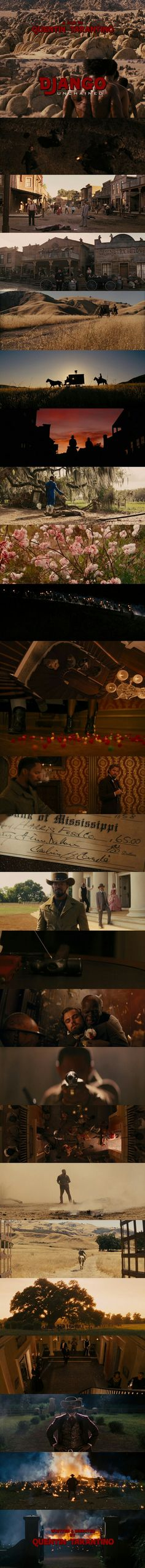 Django Unchained (2012) Directed by Quentin Tarantino Cinematography by Robert Richardson
