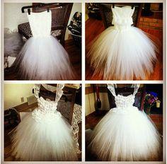 Hand made flower girl dress...step by step. Custom flower girl dress for a beautiful wedding. Lace, flowers, ribbon, rhinestones, tulle. DarlingbySuzanne@gmail.com