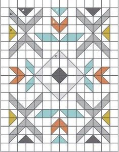 PressReader com - Connecting People Through News Barn Quilt Patterns, Modern Quilt Patterns, Modern Quilting Designs, Motif Navajo, Half Square Triangle Quilts Pattern, Half Square Triangles, Southwestern Quilts, Indian Quilt, American Quilt