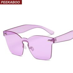 544538fddc2 Aliexpress.com   Buy Peekaboo one lens sunglasses transparent lens blue  yellow rimless square fashion sun glasses for women men uv400 from Reliable  fashion ...