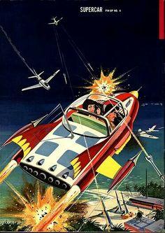 Supercar pinup 4 Sci Fi Comics, Horror Comics, Comics Illustration, Sci Fi Tv Shows, Space Race, Atomic Age, Retro Futurism, Sci Fi Art, Super Cars