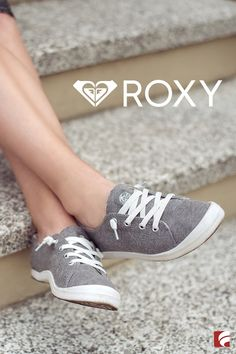 Hello, super cute slip-ons! It just doesn't get better than these Roxy sneakers. Roxy Shoes, Cute Shoes, Me Too Shoes, Pretty Shoes, Slip On Sneakers, Slip On Shoes, Cheap Sneakers, Girls Sneakers, Shoes