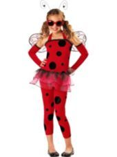 Adult Ladies LADYBUG LADYBIRD Tutu Fancy Dress Red Cute One Size Fits 8-14