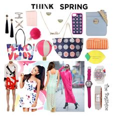 Think Spring @ The Bagtique by thebagtique on Polyvore featuring Lipsy, MaxMara, Fendi, Kate Spade, Juicy Couture, Vera Bradley, Marc by Marc Jacobs and Bagtique