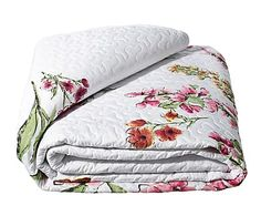 Colcha bouti de algodón y poliéster Flores - 240x260 cm