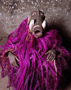 Africa | Volta Noire- Burkina Faso masks. Masks from Bwaba village in Burkina Faso. Warthog mask. | © Jean-Claude Moschetti