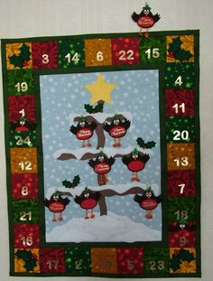 CHRISTMAS ROBIN ADVENT CALENDAR WALL HANGING SEW PATTERN | eBay .