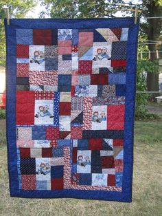 Scrappy Raggedy Ann and Andy Quilt