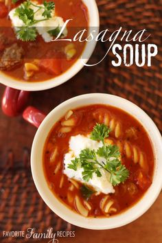 This Lasagna Soup is so savory and tasty, and the cheese topping makes it so creamy! You will love this homemade soup.