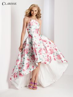 Dresses for formal dances prom dresses near me fitted for formal Floral Prom Dresses, High Low Prom Dresses, Prom Dresses For Teens, Hoco Dresses, Homecoming Dresses, Cute Dresses, Beautiful Dresses, Short Formal Dresses, Vintage Party Dresses