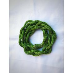 St Patrick Crochet Chunky Chain Necklace Unique Handmade Jewelry Green... ($54) ❤ liked on Polyvore featuring jewelry and necklaces