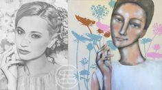 Sometimes Carolien gets her inspiration for the postures by images in magazines. - Soms haalt Carolien haar inspiratie voor de houdingen van plaatsjes uit tijdschriften. | post by anneke | #art #dutchart #painting #kunst #schilderij #artwork #inspiration #picasso #portrait #matisse #klimt