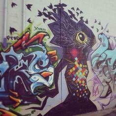 Work by Zepol of Xmen crew at the 2013 Colorado Crush event.   Denver street art   #streetart #graffiti