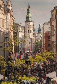 Royal road in Kraków Poland