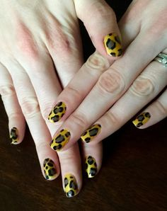 Nails This Week: Leopard Print http://nailsfornickels.com/nails-this-week-leopard-print/