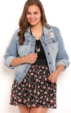 6f179ce5bc Deb Shops Plus Size Dollhouse Denim Jacket with Destruction  38.00 Short  Girl Fashion