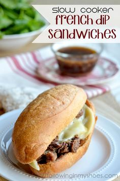 Delicious Slow Cooker French Dip Sandwiches -- freezer friendly too!