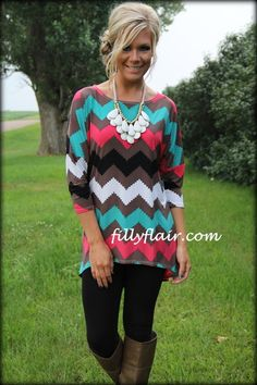 Shades of Sunset chevron dolman