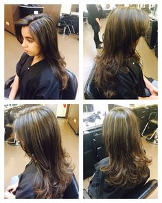Full head Double process Highlights, glossed with Aveda Demi 8n, DYO and DBG. Fine weave, medium density. (50+foils)