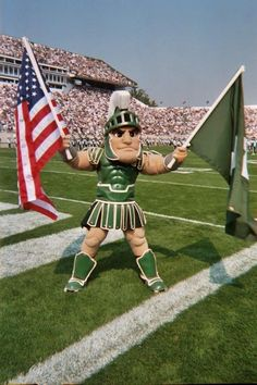 Sparty with Flags