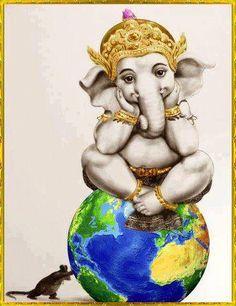 Ο Κυριος Γκανεσα... απομακρυνει τα εμποδια και φερνει καλη τυχη σε οσους τον προσκαλουν στην ζωη τους......Ινδικη Θεοτητα.... <3