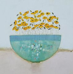 Irish art gallery showing works by artist Eithne Roberts Floral Paintings, Small Paintings, Acrylic Paintings, Flower Art, Art Flowers, Blue Bowl, Irish Art, Pictures To Paint, Painting Inspiration