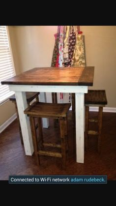 Rustic counter height table