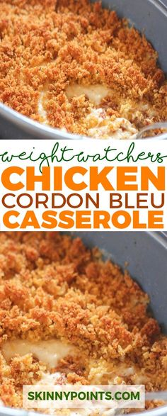 Chicken Cordon Bleu Casserole come with 7 weight watchers smart points.