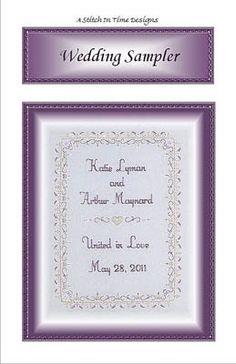 Wedding Sampler - Cross Stitch Pattern