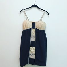 Anthropologie Lilka Dress size M Simple but sexy this dress has it all. This color block slip dress is comfortable and easy to wear. Has adjustable straps and elastic smocked back.   ⚡100% Cotton  ⚡️Machine Wash Cold   ❌trades ❌lowballs  offer button   Bundle 2 or more items and save 10%! Anthropologie Dresses