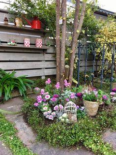 玄関前の日陰の庭の植え込み の画像|心地よいお庭とおうち *LE PETIT JARDIN ル プチ ジャルダン*
