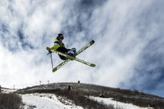 A skier flies off of a kicker in the Three Kings Terrain Park at Park City Mountain Resort. (Chris Detrick  |  The Salt Lake Tribune)