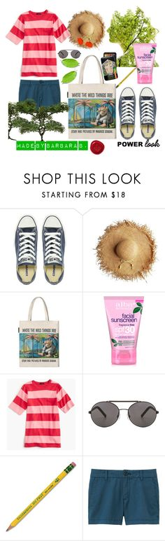 """The Good Life #5: ""Where the Wild Things Are""."" by barb8 ❤ liked on Polyvore featuring Converse, Alba Botanica, J.Crew, Seafolly, Dixon Ticonderoga and Uniqlo"