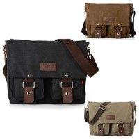 New Fashion #Unisex Men Women #Vintage Canvas #Backpack Back Pack Rucksack #School #Bag Satchel Hiking #Camping Bag T-BG060