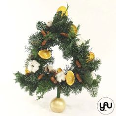 Brad CRACIUN portocale bumbac si ghinde - C126 – YaU concept Christmas Wreaths, Christmas Decorations, Xmas, Holiday Decor, Zine, Concept, Modern, Design, Trendy Tree