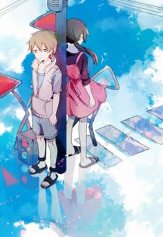 The reason I love Kagerou Project is because it's anime has a plot I have never seen before, no anime has done anything like this. Manga Anime, Manga Art, Anime Art, Awesome Anime, I Love Anime, Vocaloid, Kagerou Project, Manga Couple, Another Anime