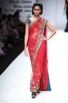 Sarees by Swapan and Seema AW 11 http://www.vogue.in/content/25-saris-stylish-wedding-season#7