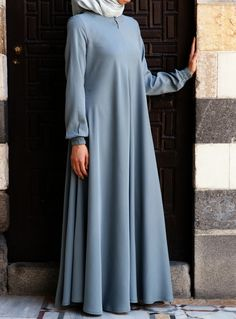 If you loved our Easy Care Flared Abaya, but wished it was available in a natural fabric, well, here it is! Nothing says comfort and softness against the skin like Tencel. And the elasticized sleeves, front opening, and the perfect flattering, feminine flair work together to create one beautiful, practical piece you'll be reaching for day after day. What is Tencel®? Tencel is the trademarked name for Lyocell, the trendsetting, eco-friendly fiber that feels like a dream. Not only is it a s...