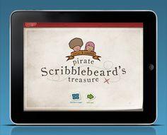 Kidoodle Apps - Pirate Scribblebeard's Treasure by Michelangelo Capraro (via Creattica)