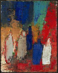 cavetocanvas:    Nicolas de Staël,Bouteilles, 1952