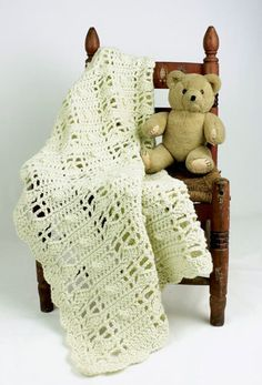 Natural Baby Blanket Crochet Pattern from Caron Yarn | FaveCrafts.com