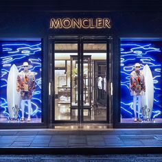 "MONCLER, Bond Street, London, UK, ""Your Wave is Waiting"", pinned by Ton van der Veer"