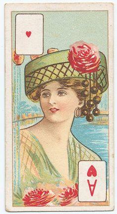 Ace of hearts cigarette card