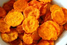 Who is up for some amazing sweet potato chips?  Love this recipe!  Simple and so delicious!!