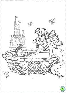 Barbie Coloring Pages, Disney Princess Coloring Pages, Disney Princess Colors, Mermaid Coloring Pages, Cartoon Coloring Pages, Colouring Pages, Coloring Pages For Kids, Coloring Books, Disney Kunst