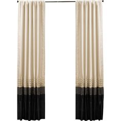 Add a sophisticated touch to your master suite or guest room with this faux silk curtain panel, showcasing a color-block design and pleated details for elega...