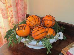 Clove Studded Oranges in Ironstone Tureen