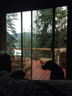 Cabin view - Home Design Window View, Cabins In The Woods, House Goals, My Dream Home, Future House, Interior And Exterior, Beautiful Places, Scenery, Nature