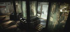 Call of Duty Advanced Warfare Bio Lab: Which basically looks like an Omega Red or Department H facility. Metroid, Art Bloc, Cyberpunk Kunst, Space Story, Frank Herbert, Sci Fi Environment, Advanced Warfare, Shadowrun, Sci Fi Art