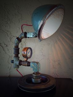 Up-cycled Tractor Light! http://retrosteamworks.com/